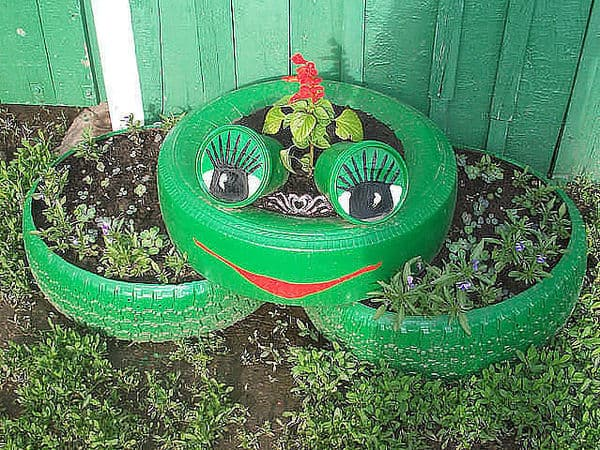 Изделия из шин своими руками фото для сада