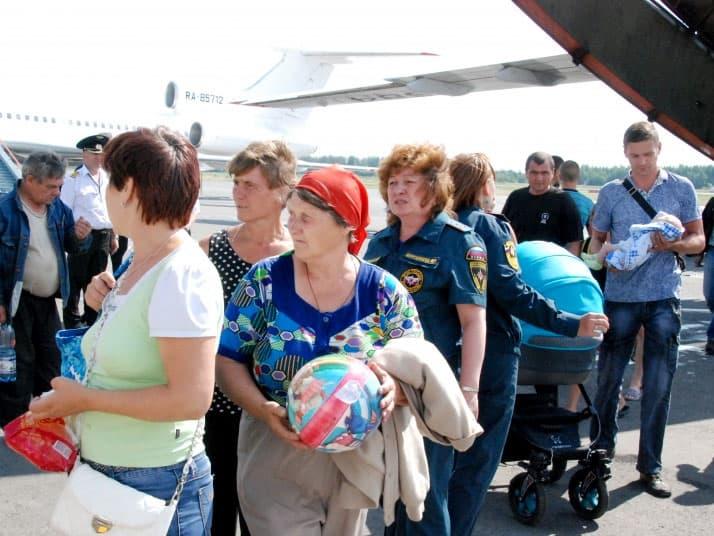 Украинские переселенцы прибыли в Уфу (+2 видео)