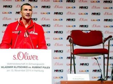 Стул стал оппонентом Кличко на пресс-конференции