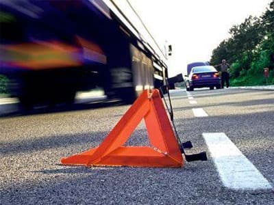 В Башкирии уснувший водитель протаранил автомобиль полиции