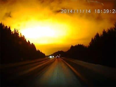 В небе над Уралом засняли таинственное свечение (видео)