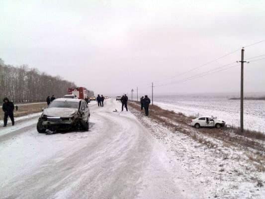 В Кушнаренковском районе произошло тройное ДТП