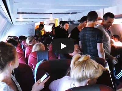 Видео в Сети: уфимские туристы устроили драку на борту самолета