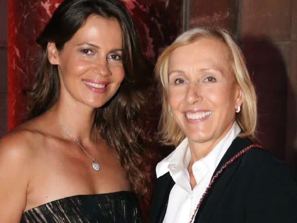 Известная теннисистка Мартина Навратилова вступила в брак с бывшей мисс СССР