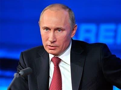 Большая пресс-конференция Владимира Путина: «Мы не атакуем, мы защищаем свои интересы»