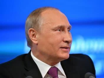 На пресс-конференции Владимиру Путину передали носки от жительницы Башкирии