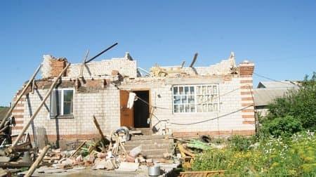 В Башкирии ураган разрушил несколько домов