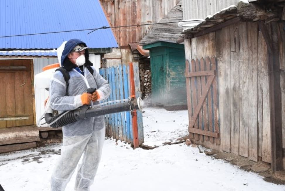В Башкирии провели завершающую дезинфекцию из-за ящура