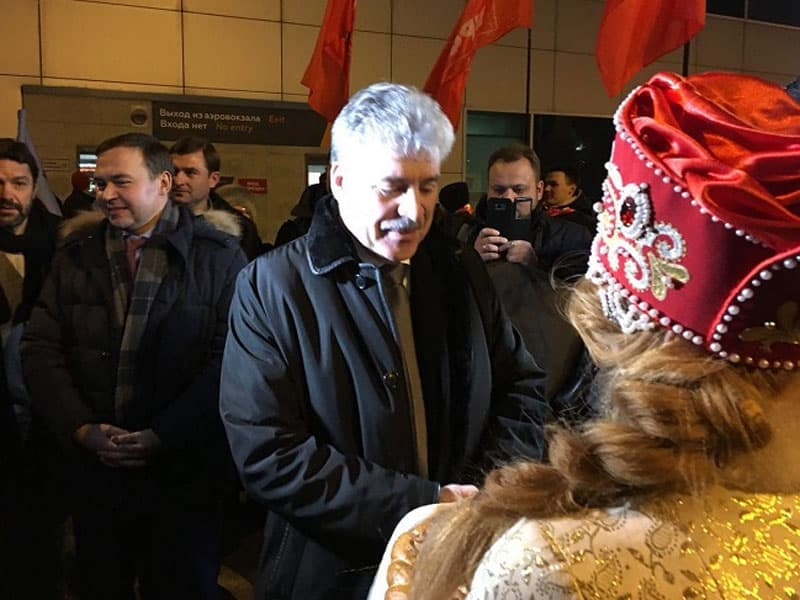 В Уфу приехал Павел Грудинин, который баллотируется в президенты от КПРФ