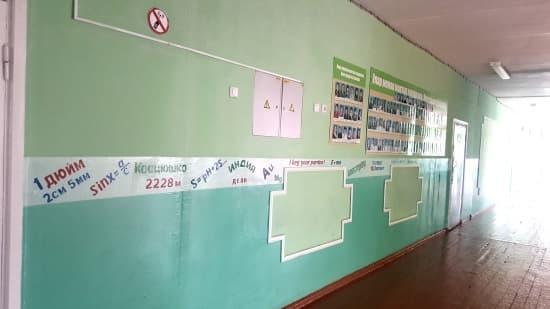 В Туймазах для учащихся нарисовали шпаргалки на стенах школы
