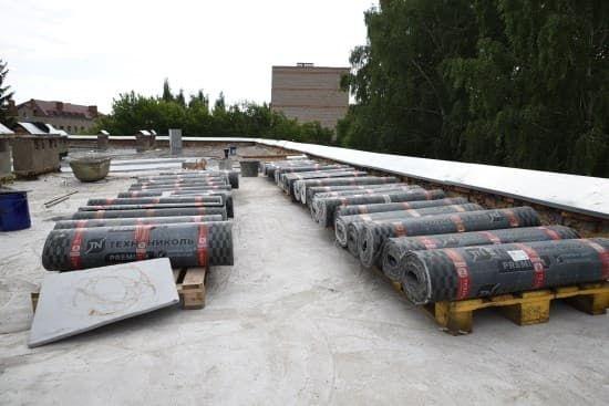 В одной из школ Тумазинского района завершается ремонт крыши