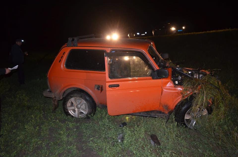 В Илишевском районе автомобиль наехал на гужевую повозку: погиб пассажир