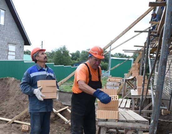 В Тумазинском районе строят Дом культуры