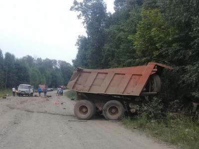 В Бурзянском районе водитель «Камаза» опрокинул машину и погиб