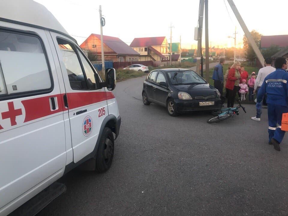 В Уфе иномарка сбила женщину и ребенка ехавших на велосипеде