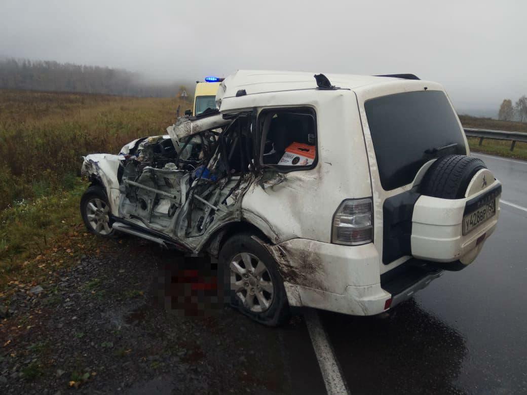 В Салаватском районе погиб водитель Митсубиси потеряв управление и влетев в отбойник