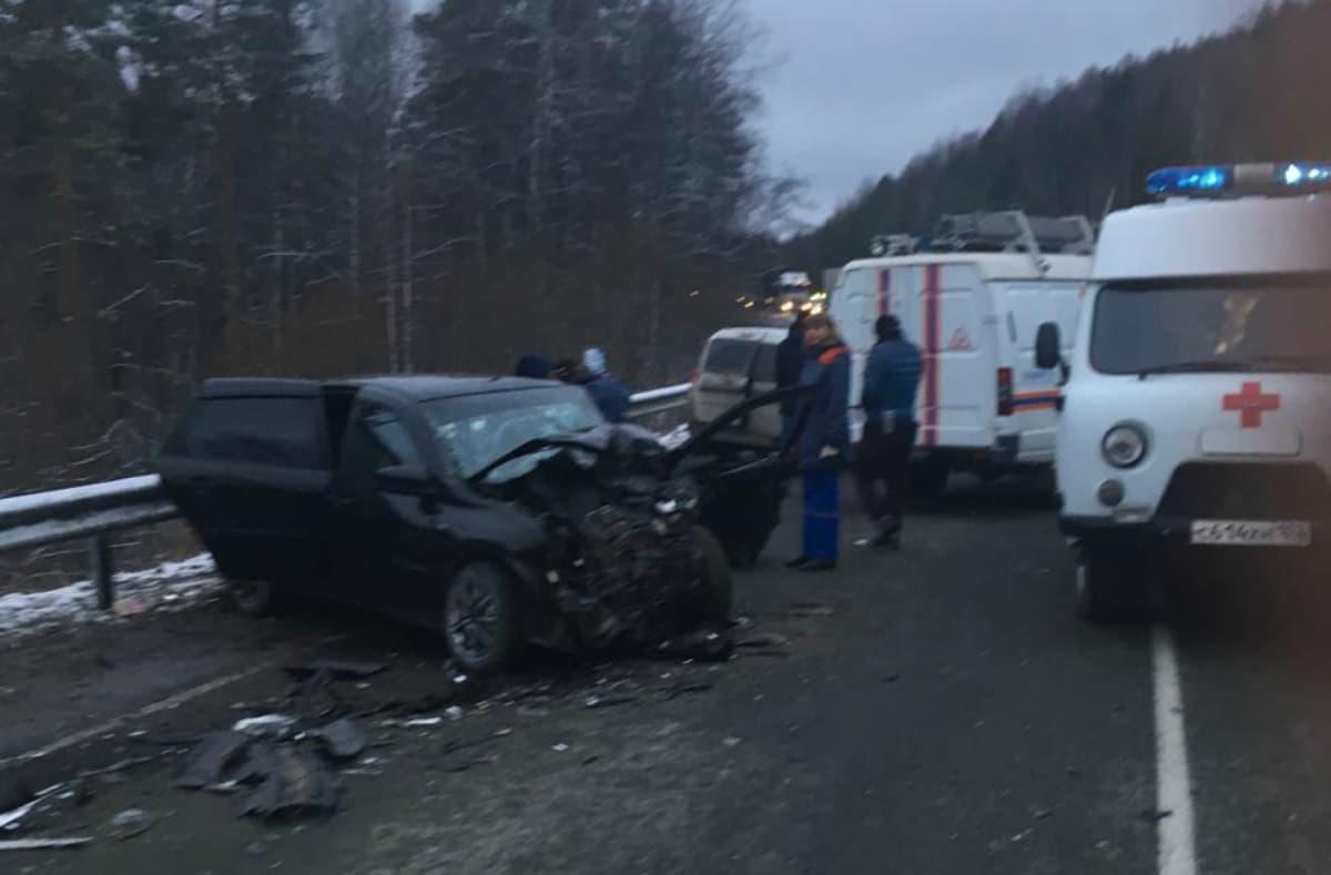 В Белорецком районе в ДТП с участием трех автомобилей пострадали 7 человек