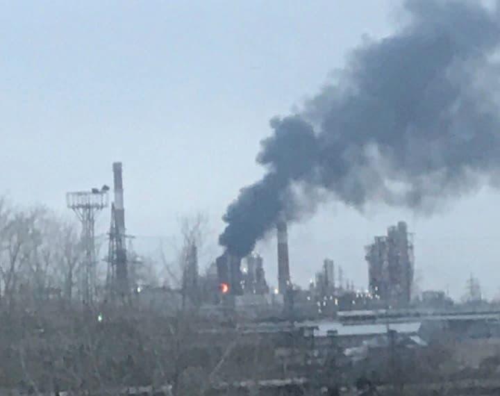 В Уфе потушили возгорание на нефтезаводе
