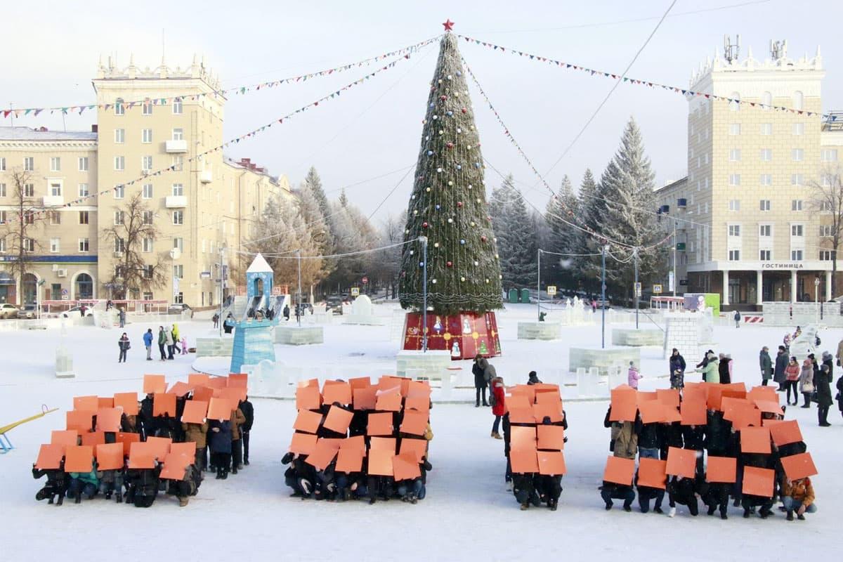 В Октябрьском уже взялись …за дизайн новогоднего городка